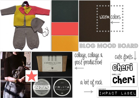 mood board for blog