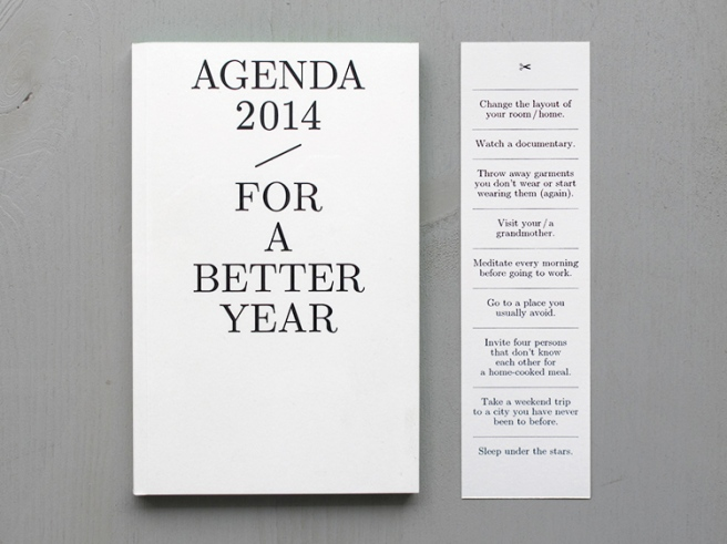 Agenda for a better year