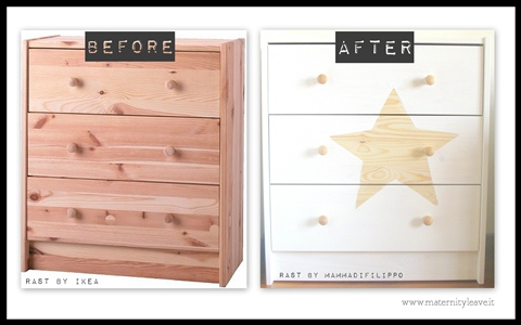 before after ikea hack rast LOW