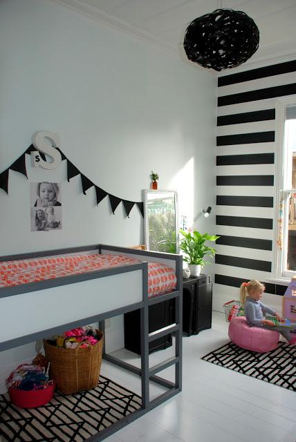 black kid room mint six home