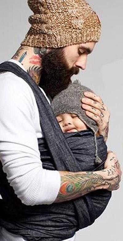 baby wearing man