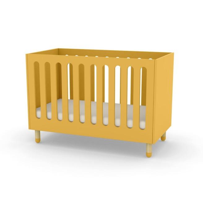 letto-bebe-a-sbarre-giallo ocra flexa
