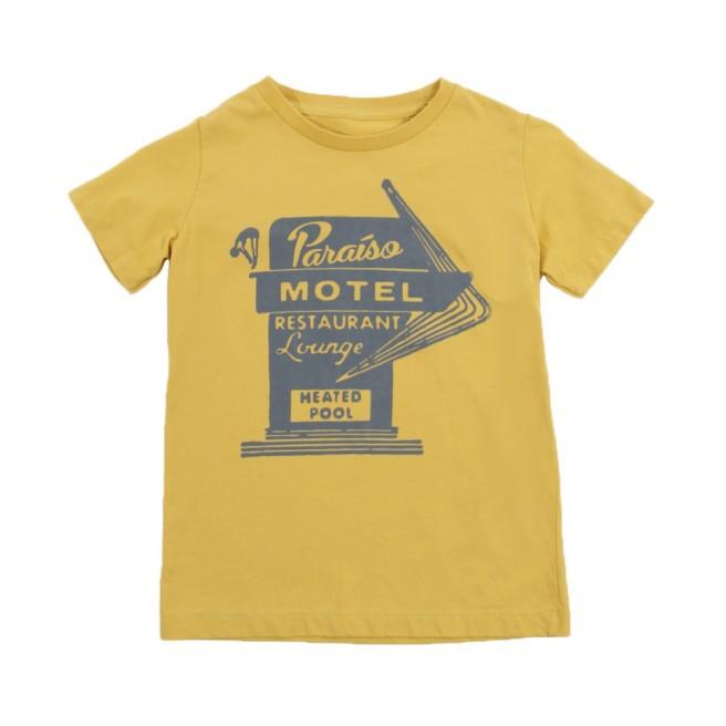 Bellerose_t-shirt-paradiso-motel-keny-giallo