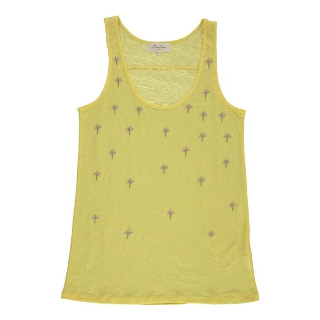 Marie sixtien_top-lino-palme-fox-giallo
